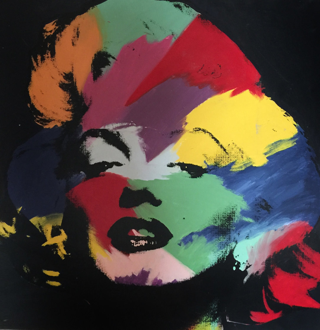 Marilyn (series Iii) 1995 Embellished Limited Edition Print by Steve Kaufman