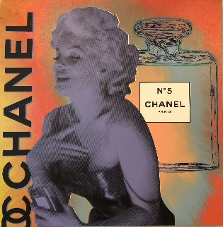 Chanel Marilyn, State I Unique 30x30 Original Painting - Steve Kaufman