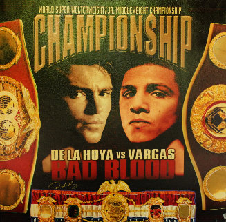 De La Hoya vs. Vargas - Bad Blood 2002 HS Limited Edition Print - Steve Kaufman