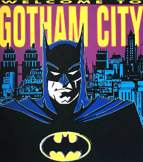 Batman: Welcome to Gotham City 1995 Limited Edition Print by Steve Kaufman