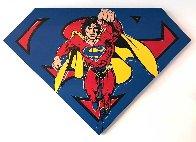 Superman Shield (Blue) 1995 Limited Edition Print by Steve Kaufman - 0