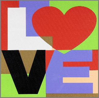 Love And Peace, Set of  2 Paintings 2005 20x20 Limited Edition Print - Steve Kaufman