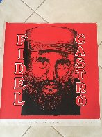 Fidel Castro Embellished Limited Edition Print by Steve Kaufman - 2