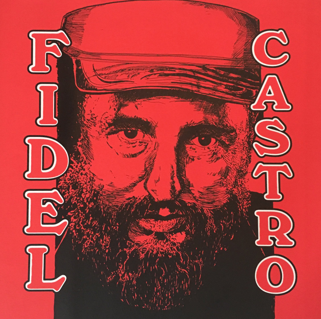 Fidel Castro Embellished Limited Edition Print by Steve Kaufman