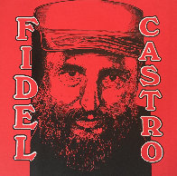 Fidel Castro Embellished Limited Edition Print by Steve Kaufman - 0