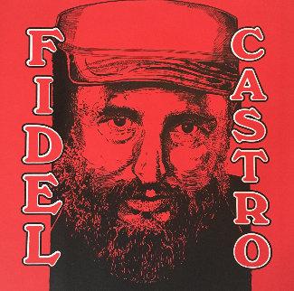 Fidel Castro Embellished Limited Edition Print - Steve Kaufman