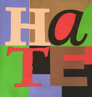 Hate 2005 Embellished Limited Edition Print by Steve Kaufman