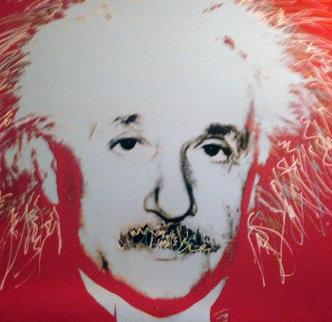 Einstein - Homage to Genius Series  1996 Embellished Limited Edition Print - Steve Kaufman