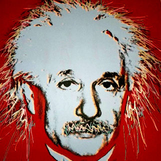 Einstein - Homage to Genius Series  1996 Embellished Limited Edition Print - Steve Kaufman