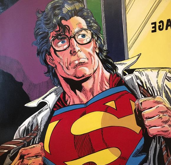 Superman  1995 60x60 Original Painting by Steve Kaufman