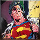 Superman  1995 60x60 Original Painting by Steve Kaufman - 4