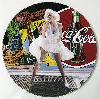Marilyn Monroe 2005 13x13 Original Painting by Steve Kaufman - 1