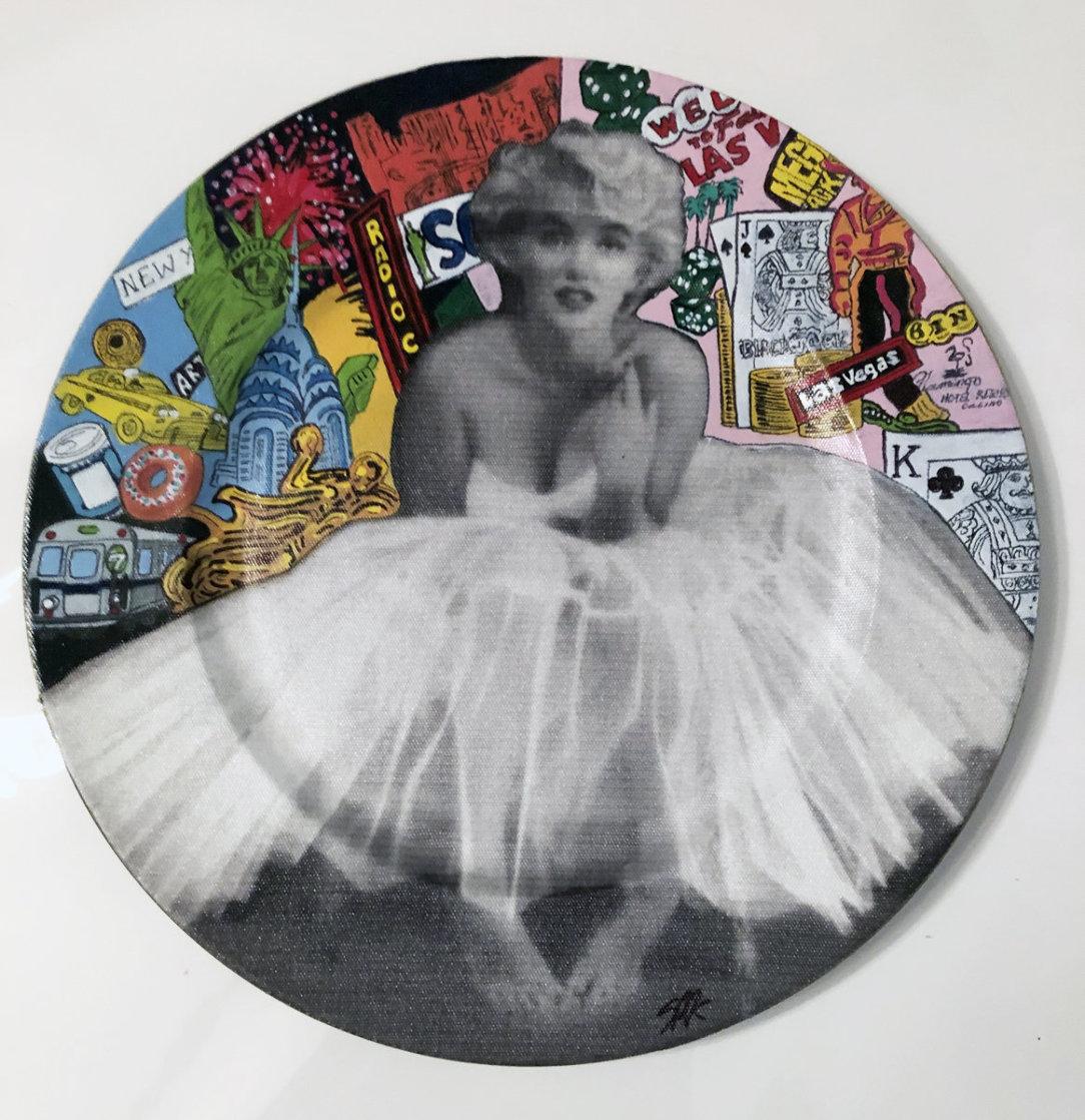 Marilyn Monroe 2005 13x13 Original Painting by Steve Kaufman