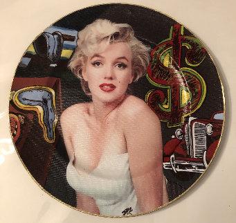 Marilyn Monroe 2005 13x13 Original Painting - Steve Kaufman