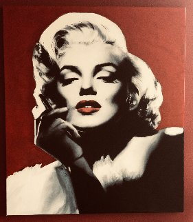 Marilyn Monroe Smokin Hot 2005  48x42 Original Painting - Steve Kaufman
