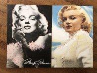Double Marilyn Unique 2005 29x40 Huge Original Painting by Steve Kaufman - 1