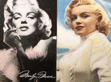 Double Marilyn Unique 2005 29x40 Huge Original Painting - Steve Kaufman