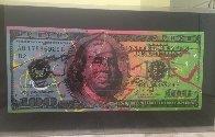 New $100 Bill Splattered Unique  Embellished   Limited Edition Print by Steve Kaufman - 1