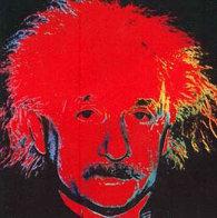 Albert Einstein, Red 1996 Limited Edition Print by Steve Kaufman - 0