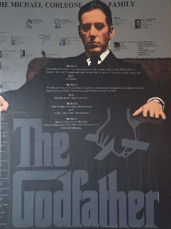 Godfather Embellished Limited Edition Print - Steve Kaufman