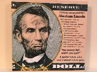 Portrait of an Achiever AP Abraham Lincoln Limited Edition Print by Steve Kaufman - 1