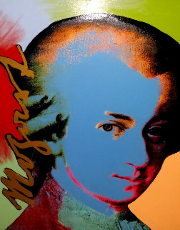 Mozart: Homage to the Genius Series 1998 Embellished Limited Edition Print - Steve Kaufman