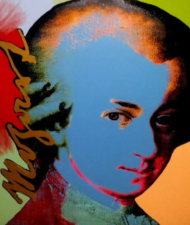 Mozart: Homage to the Genius Series 1998 Embellished Limited Edition Print by Steve Kaufman