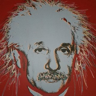 Einstein: Homage to Genius Series 1996 Embellished Limited Edition Print by Steve Kaufman