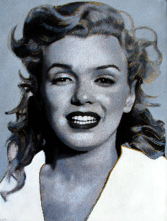 Norma Jean, Marilyn Gray 2004 19x16 Original Painting - Steve Kaufman