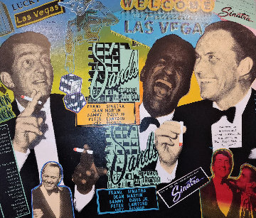 Rat Pack At the Sands 2005 Embellished Limited Edition Print by Steve Kaufman