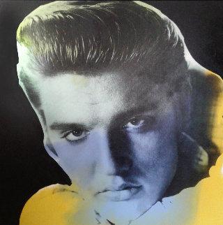Elvis Presley Series I State II 1996 Embellished  Limited Edition Print - Steve Kaufman