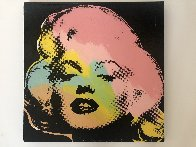Mini Marilyn 3 (Midnight) AP 1995 Embellished Limited Edition Print by Steve Kaufman - 1