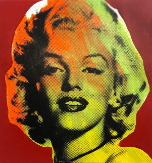 Mini Marilyn 7 (Red) Emellished Limited Edition Print by Steve Kaufman