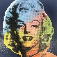 Mini Marilyn 9 (Blue) Embellished Limited Edition Print by Steve Kaufman - 0