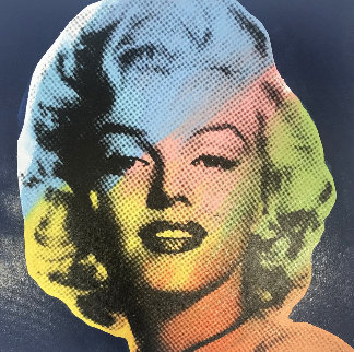 Mini Marilyn 9 (Blue) Embellished Limited Edition Print by Steve Kaufman