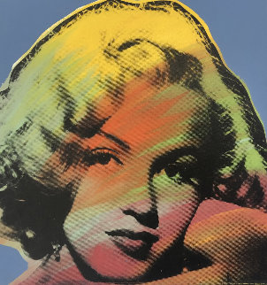Mini Marilyn 10 (Light Blue)  Limited Edition Print - Steve Kaufman