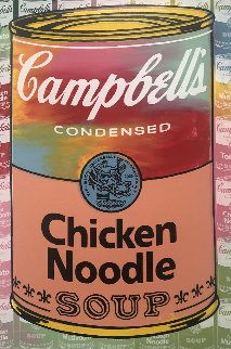 Campbells Soup II Chicken Noodle  AP Embellished Limited Edition Print by Steve Kaufman