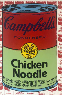 Campbells Soup I Chicken Noodle   Embellished Limited Edition Print - Steve Kaufman
