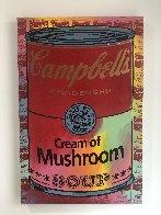 Campbells Soup II Cream of Mushroom  Embellished Limited Edition Print by Steve Kaufman - 1
