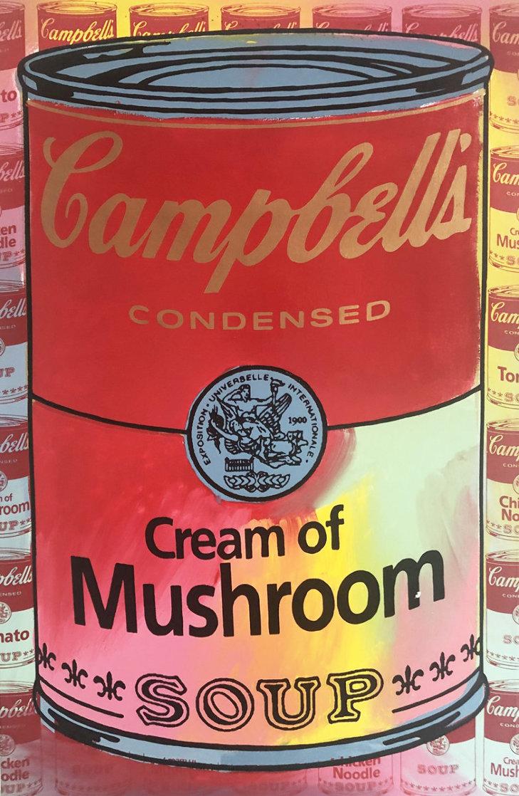 Campbells Soup II Cream of Mushroom  Embellished Limited Edition Print by Steve Kaufman