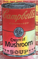 Campbells Soup II Cream of Mushroom  Embellished Limited Edition Print by Steve Kaufman - 0