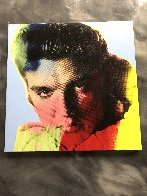 Elvis I Blue Embellished Limited Edition Print by Steve Kaufman - 1