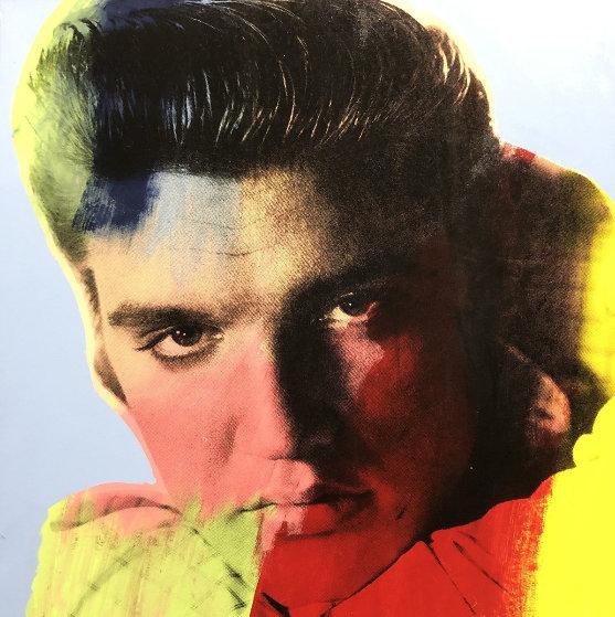 Elvis I Blue Embellished Limited Edition Print by Steve Kaufman