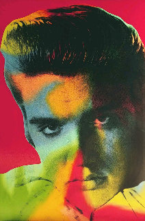 Elvis in Red 1996 Limited Edition Print by Steve Kaufman