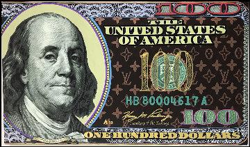 Louis Vuitton 100 Dollar Ben 2006 27x47 Original Painting - Steve Kaufman