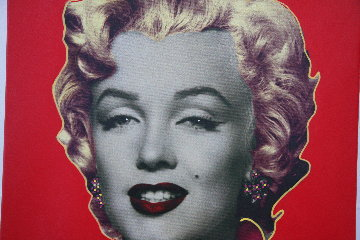 Marilyn Icon - Red Embellished Limited Edition Print - Steve Kaufman