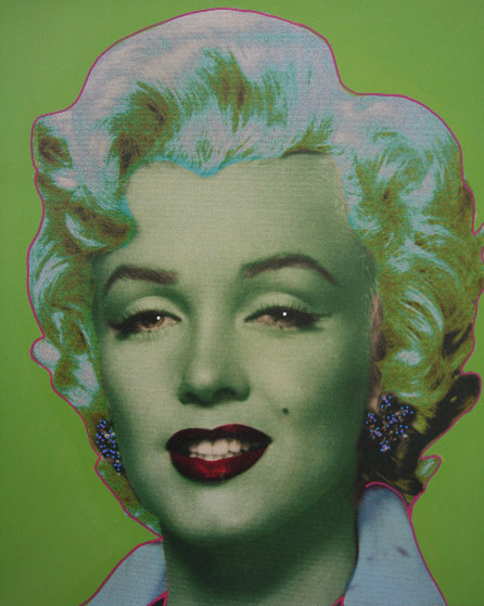 Marilyn Icon Green 24x24 Embellished Limited Edition Print by Steve Kaufman
