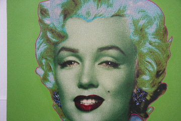 Marilyn Icon - Green Embellished Limited Edition Print by Steve Kaufman