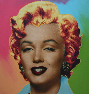 Marilyn Icon   24x24 Embellished Limited Edition Print by Steve Kaufman