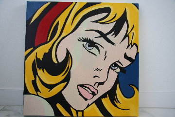 Crying Girl State    Blonde Limited Edition Print - Steve Kaufman